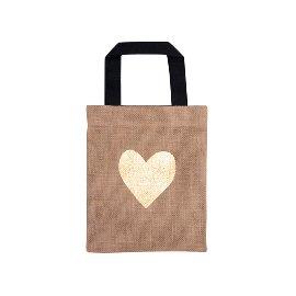 Geschenktasche Organics Jute Herz