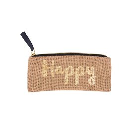 Stiftetasche Jute Happy