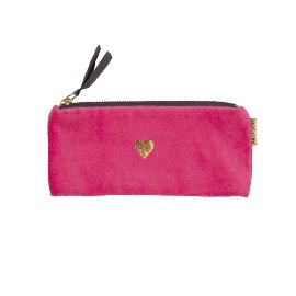 Pouch velvet Pink Heart