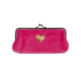 Cosmetic bag heart pink