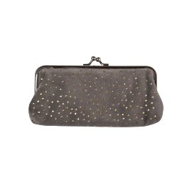 Cosmetic bag dots grey