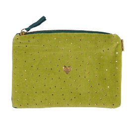 Cosmetic bag heart green