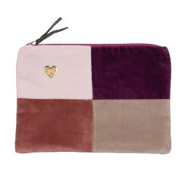 Cosmetic bag colour blocking rose