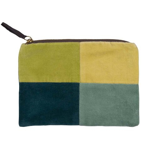 Cosmetic bag colour blocking green