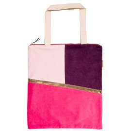 Shopper favourite bag zipper velvet pink