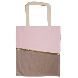 Shopper Lieblingstasche Samt Rosé Beige