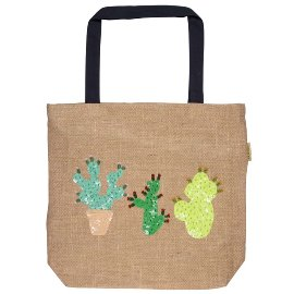 Shopper bag jute cactus