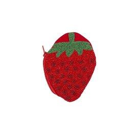 Münztasche Perlen Erdbeere