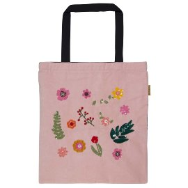 Shopper favourite bag flowers grey