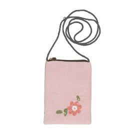 Cellybag Samt Blumen Pink
