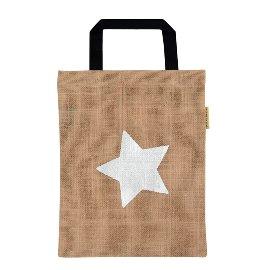 Geschenktasche Organics Jute Stern