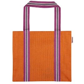 Shopper bag jute orange