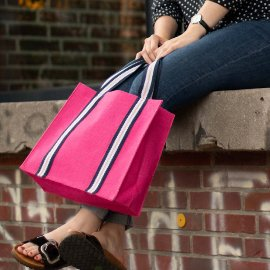 Shopper Bag Jute Pink