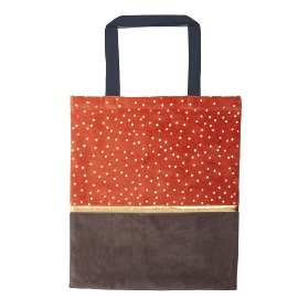 Shopper favourite bag velvet dots