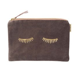 Cosmetic bag velvet sleepy eyes