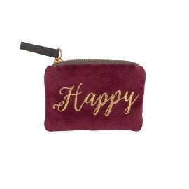 Coin pocket velvet happy