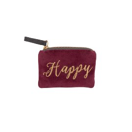 Coin pocket velvet happy