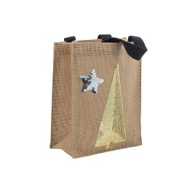 Gift bag jute tree sequins nature