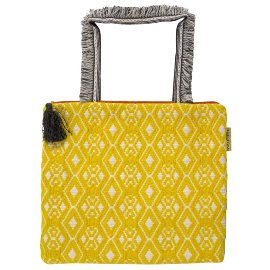 MAJOIE shopper bag yellow white