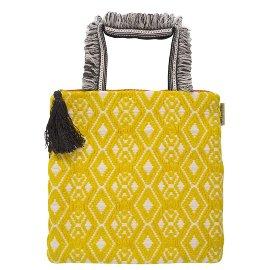 MAJOIE mini bag yellow white