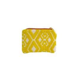 MAJOIE coin pocket yellow white