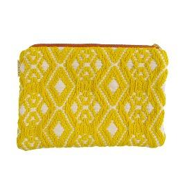 MAJOIE cosmetic bag yellow white