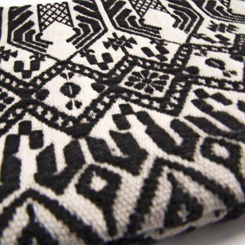 MAJOIE cosmetic bag black white