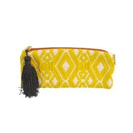 MAJOIE pouch yellow white
