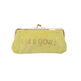 Cosmetic bag velvet Let's glow!