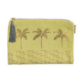 Cosmetic bag palm tree