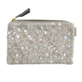 Cosmetic bag velvet sequins