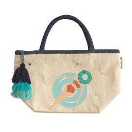 Mini shopper bag bathing woman