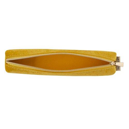 Pouch velvet yellow