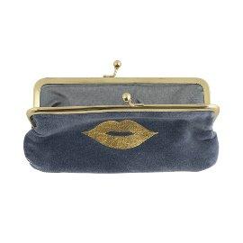 Cosmetic bag velvet lips