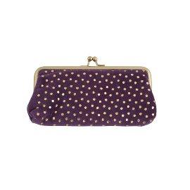 Cosmetic bag velvet dots