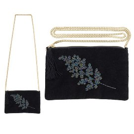 Crossover clutch pearl bag branch
