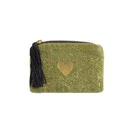 Coin pocket velvet heart