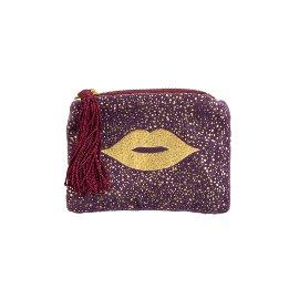 Coin pocket velvet lips
