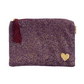 Cosmetic bag velvet heart