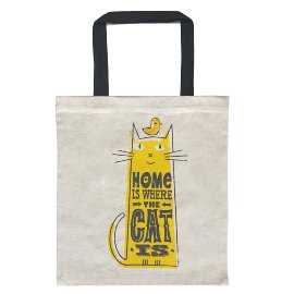 Shopper easybag home is where the cat is