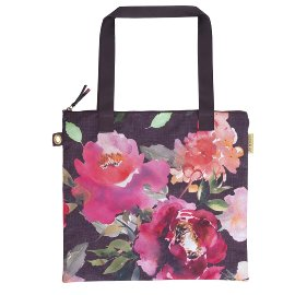 Shopper favourite bag roses aubergine