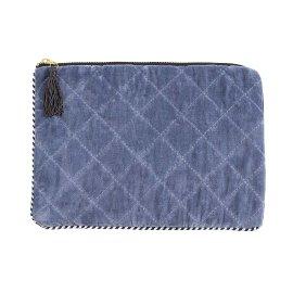MAJOIE tablet sleeve velvet jeans blue