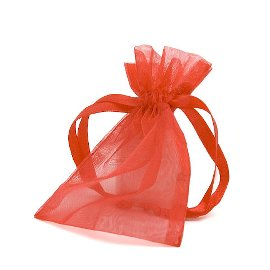 organza bag/9x12cm/red