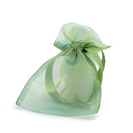 organza bag/9x12cm/green