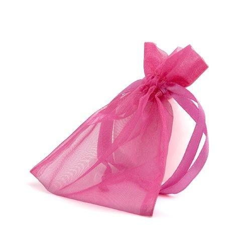 organza bag/9x12cm/hot pink