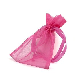 organza bag/9x12cm/hot pink