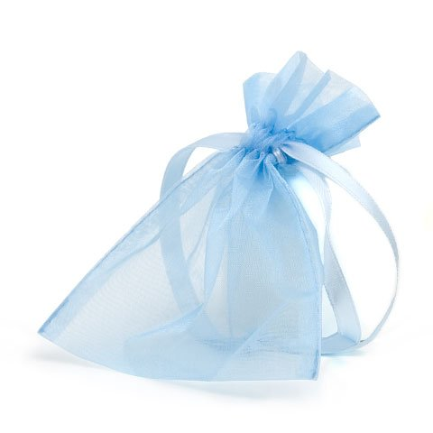 organza bag/9x12cm/light blue