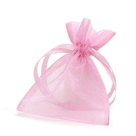 organza bag/9x12cm/pink