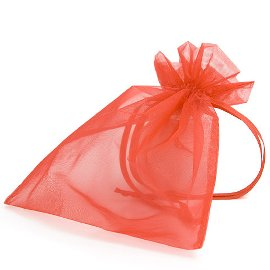 organza bag/17x21cm/red