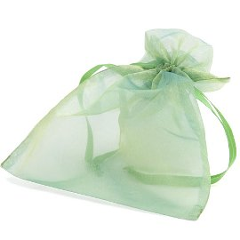 organza bag/17x21cm/green